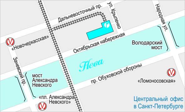 Октябрьская 44 - Карта проезда